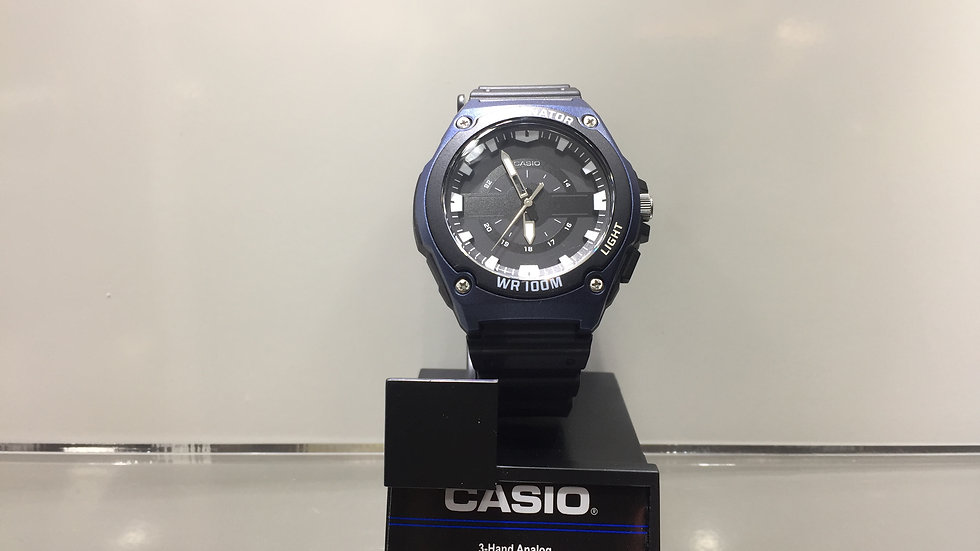 Casio 3-Hand Analog LED Light 100m Water Resistant.