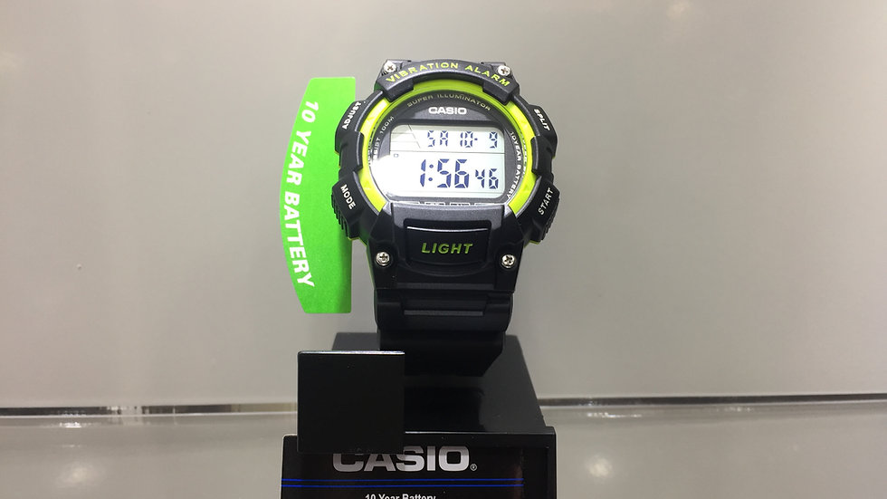 Casio 10Year Battery Vibration Alert LED Light 100m Water Resistant.