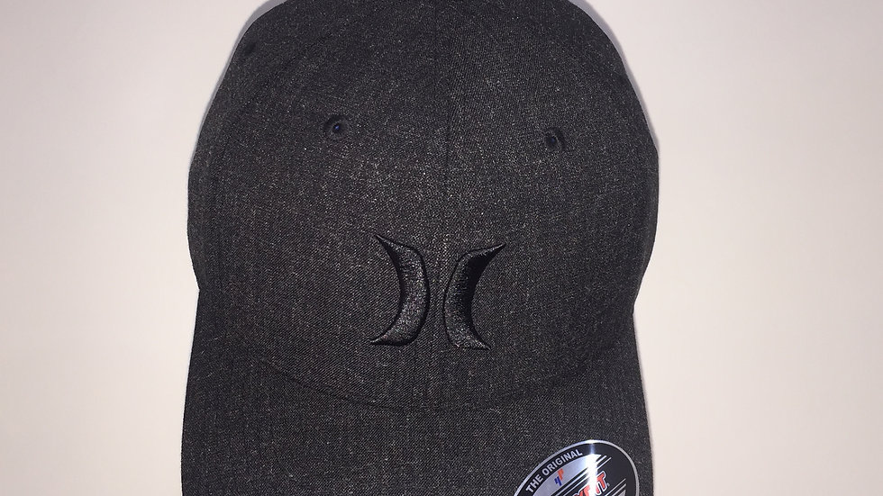 Gorra Hurley BLACK TEXTURES HAT, Flex-Fit