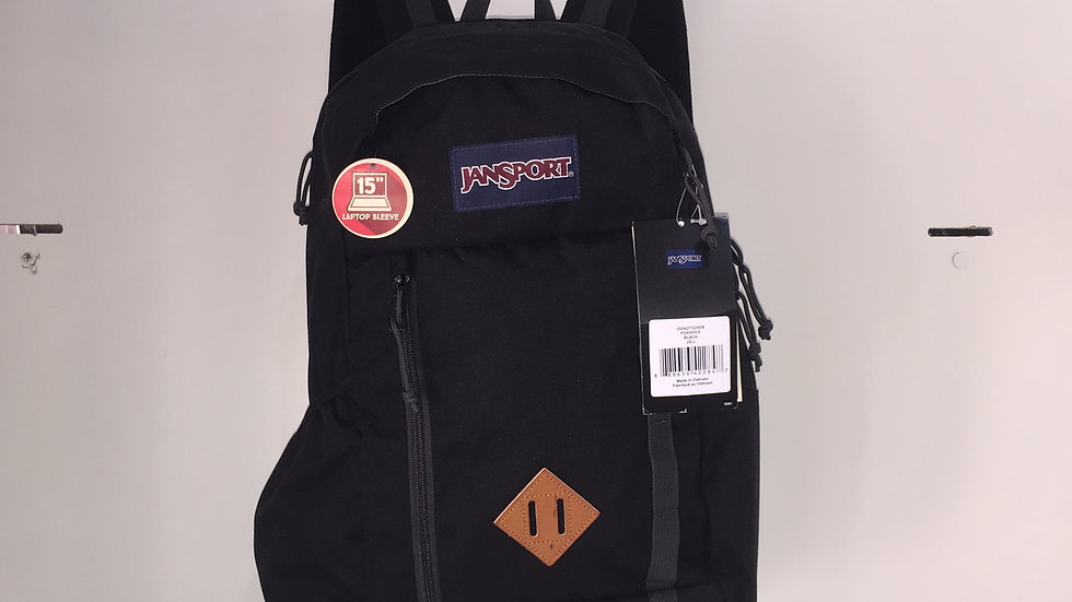Mochila Jansport Foxhole Black, compatible con laptop y botella de agua