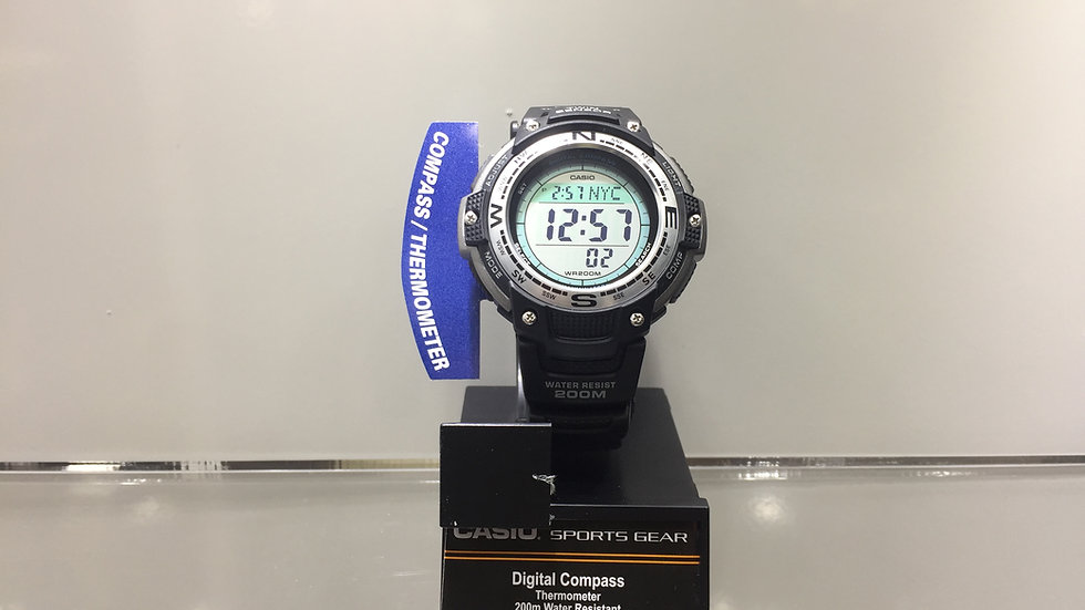Casio Digital Compass Thermometer 200m Water Resistant