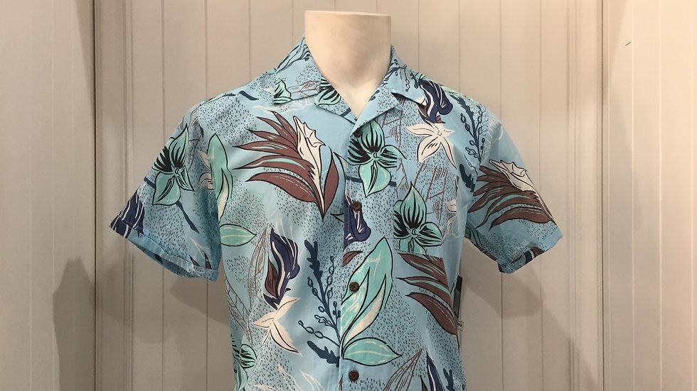 Camisa Hurley Domino SS 55% Algodón, 45% Rayón.