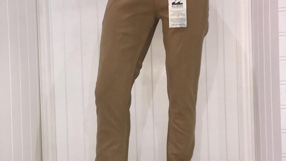 Pantalón Billabong Outsider Slim Stretch, 99% Algodón, 1% Elastano.