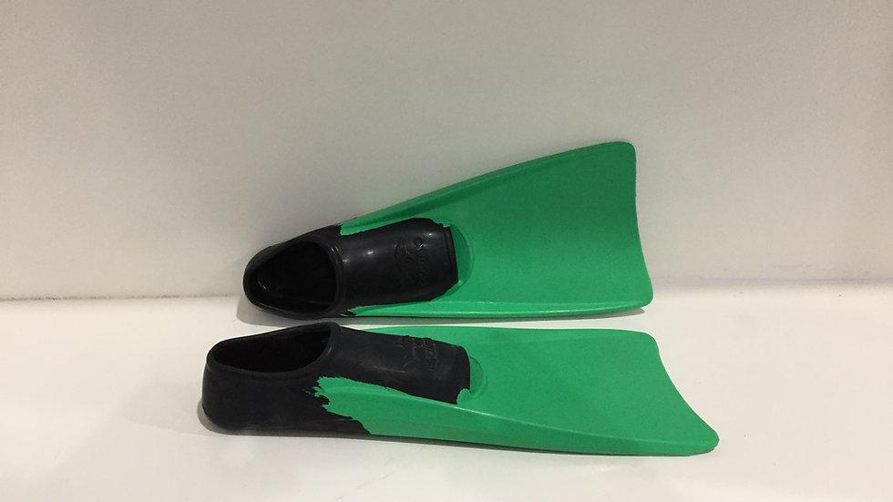 Aletas Escualo Flipper Verde Limón, para snorkeling o buceo