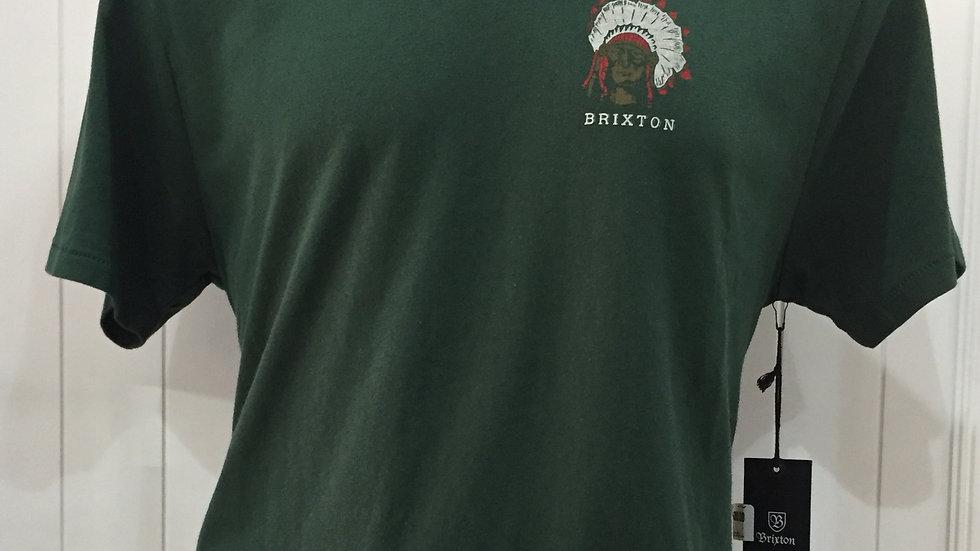Playera Brixton Crow, Premium Fit 60% algodón, 40% poliester