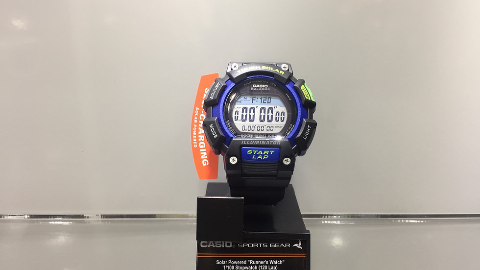 "Casio Solar Powered ""Runers´s Watch"" 1/100 Stopwach (120 Lap) Interval Timer 100"