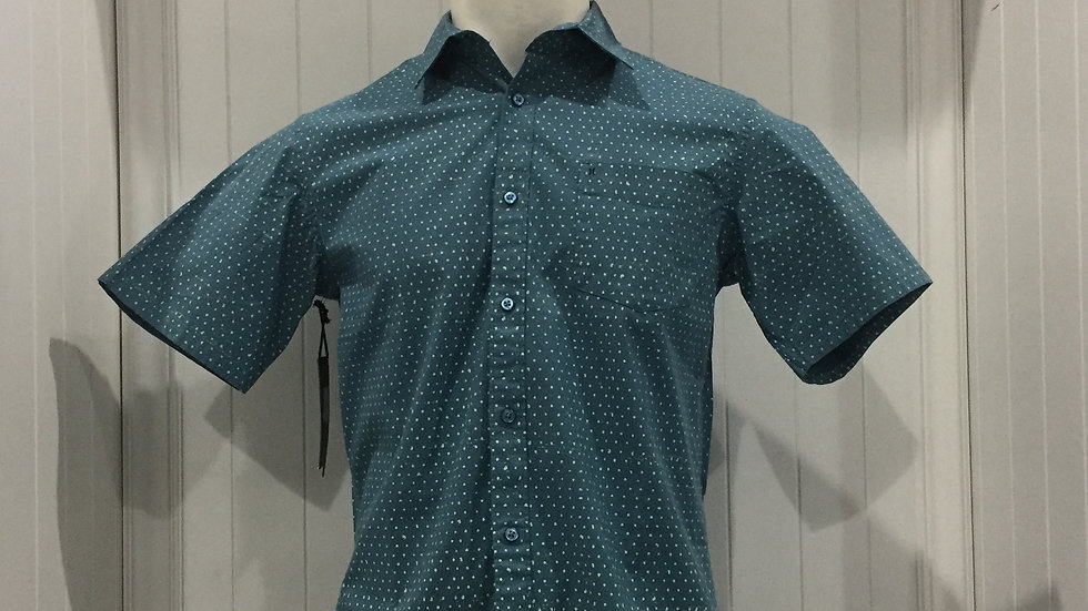 Camisa Hurley Jones Dot Top SS, Stretch, 98% algodón, 2% Elastano.