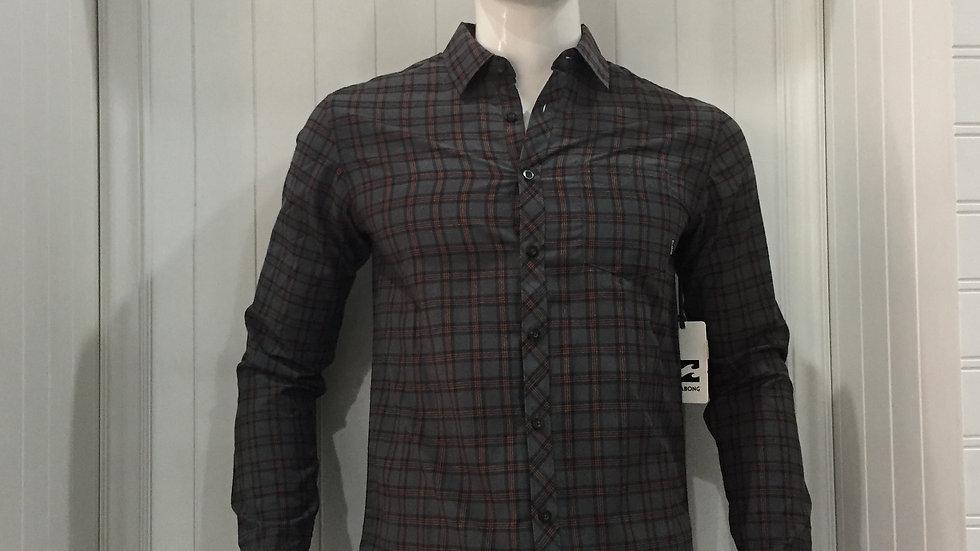 Camisa Billabong Stonewell LS Woven 55% algodón 45% poliester.