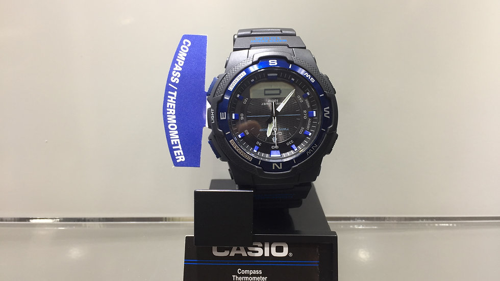 Casio Compass Thermometer LED Light 100m Water Resistant.