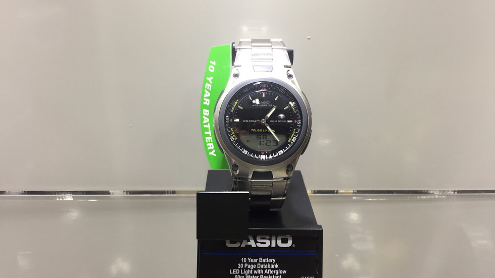 Casio 10 Year Battery 30 Page Databank LEED Light with Afterglow