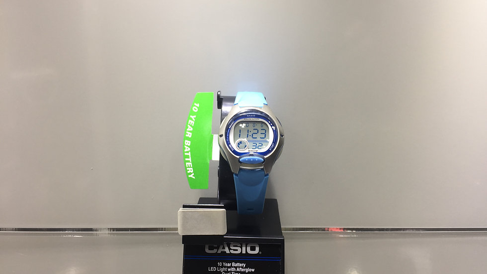 Casio 10 Year Battery LED Light with Afterglow Dual Time 50m Water Resistant.