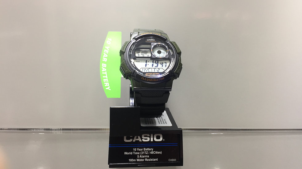 Casio 10 Year Battery World Time (31TZ / 48 cities) 5 Alarms 100m Water Resistan