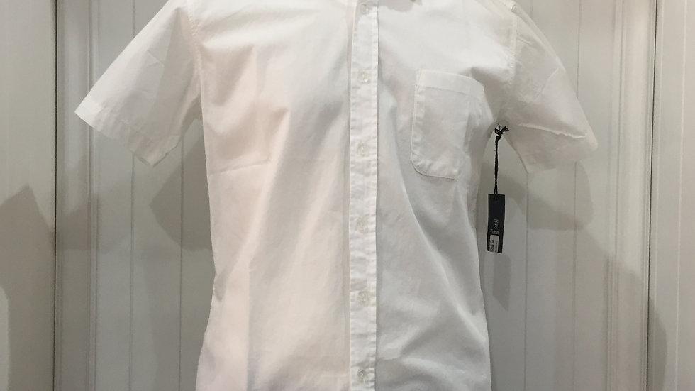 Camisa Brixton, 100% algodón, color blanco.