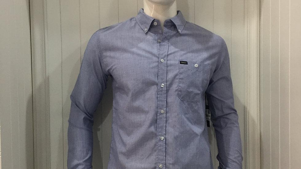 Camisa Brixton, 55% algodón, 45% poliester, color cielo.