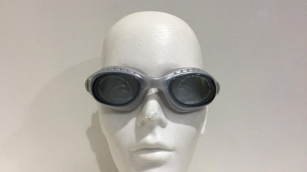 Goggles Aqua Zone Technical Gator Plus, lentes de policarbonato metalizados, tra
