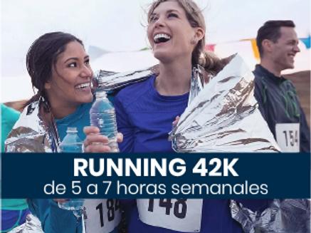 Running 42k - 5 a 7hs semanales
