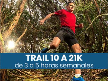 Trail de 10 a 21k - 3 a 5hs semanales