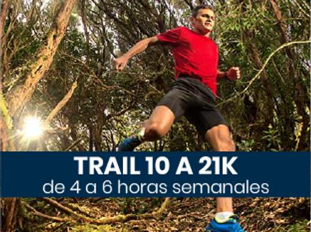 Trail de 10 a 21k - 4 a 6hs semanales