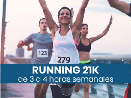 Running 21k - 3 a 4hs semanales