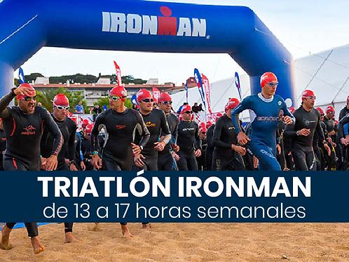 Triatlón Ironman - 13 a 17hs semanales