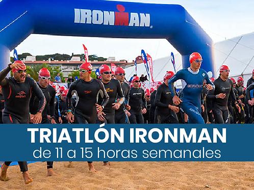 Triatlón Ironman - 11 a 15hs semanales