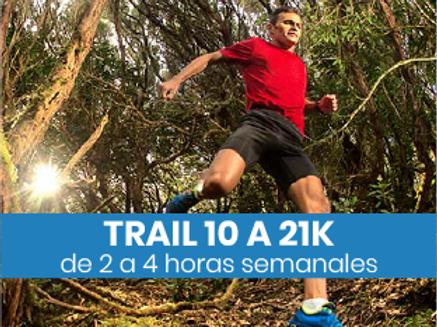 Trail de 10 a 21k - 2 a 4hs semanales