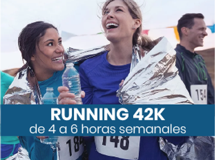 Running 42k - 4 a 6hs semanales