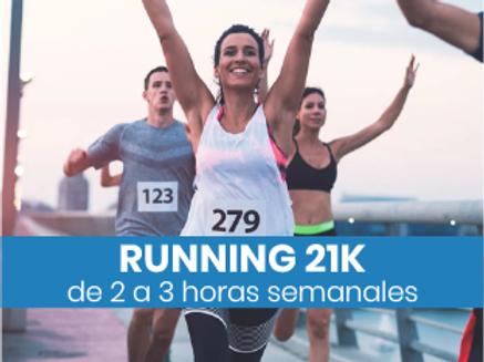 Running 21k - 2 a 3hs semanales