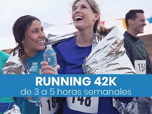 Running 42k - 3 a 5hs semanales