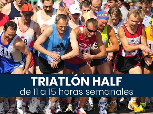Triatlón Half - 11 a 15hs semanales