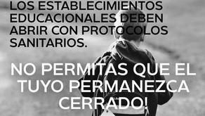 QUIÉNES FORMAN EL MOVIMIENTO DE APODERADOS QUE ABOGA POR LA REAPERTURA DE COLEGIOS EN CHILE
