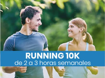 Running 10k - 2 a 3hs semanales
