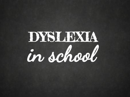 A Dyslexic Child in School