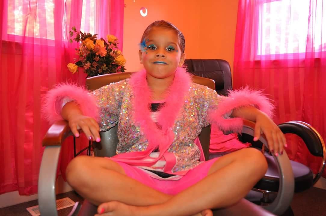 Glitzy glam makeover