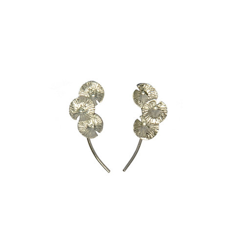 NYMPHEA TRIO EAR CLIMBER SILVER