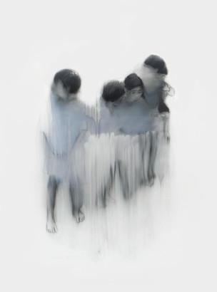 Lápiz y óleo sobre papel mylar, 27 x 25 cm, 2017.