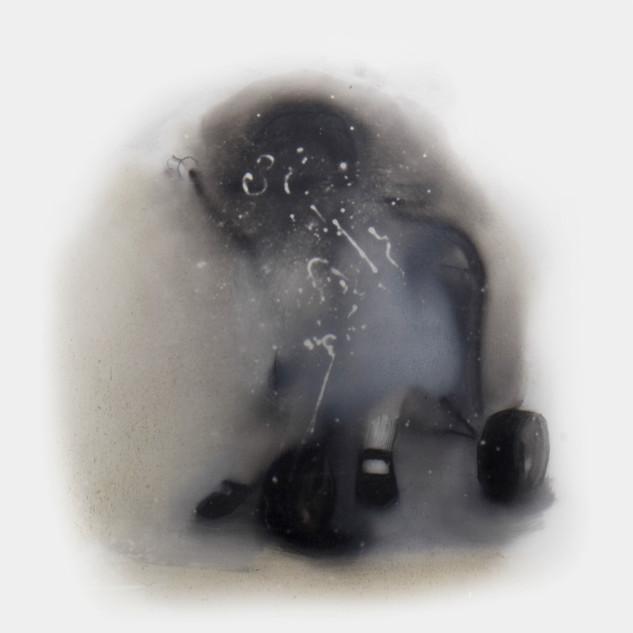 Lápiz y óleo sobre papel mylar, 25 x 25 cm, 2014.