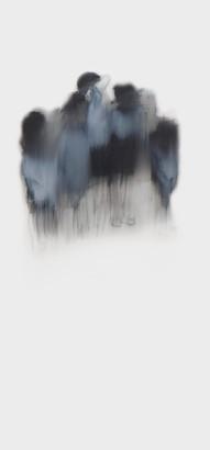 Lápiz y óleo sobre papel mylar 26 x 20, 2017.