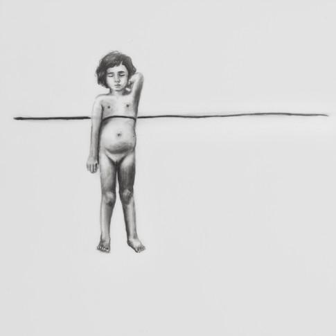 Lápiz sobre papel mylar, 13 x 13 cm, 2017.