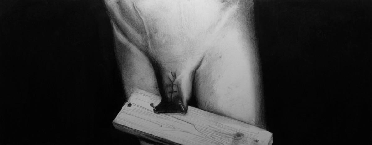 Lápiz sobre papel, 12 x 31 cm, 2011.