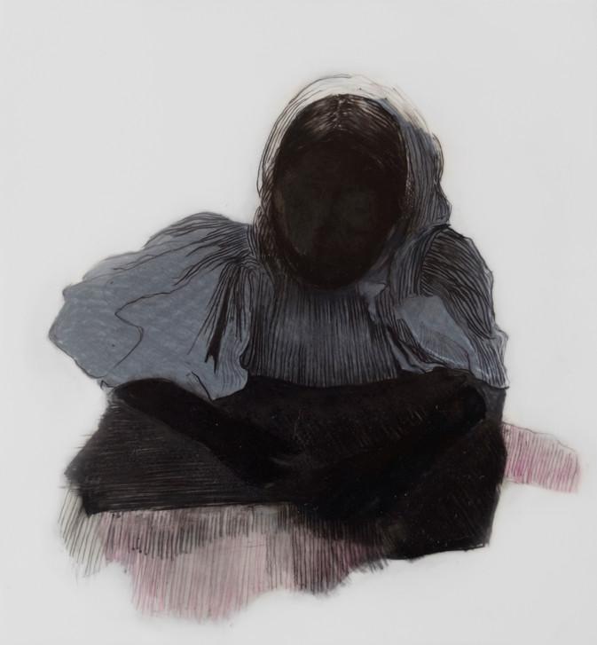 Lápiz sobre papel mylar, 17 x 17 cm, 2018.