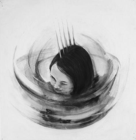 Conocimiento, lápiz sobre papel mylar, 47x45,6cm, 2020