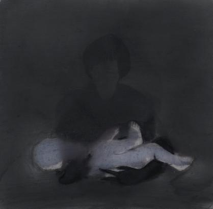 Lápiz y óleo sobre papel mylar, 15 x 15 cm, 2016.