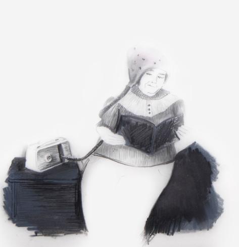 Lápiz sobre papel mylar, 13 x 13 cm, 2011.
