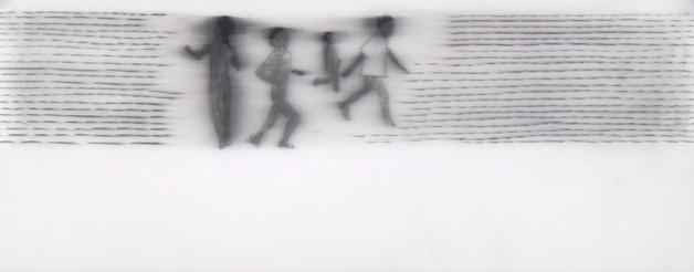 Lápiz sobre papel mylar, 6 x 17 cm, 2016.