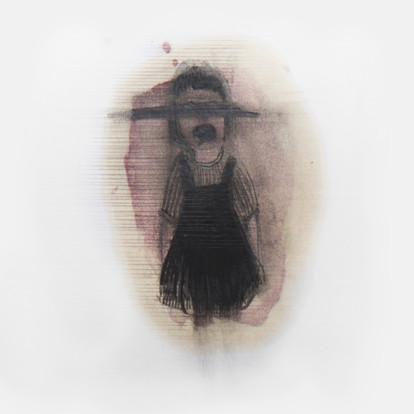 Lápiz y tinta sobre papel, 10 x 10 cm, 2011.