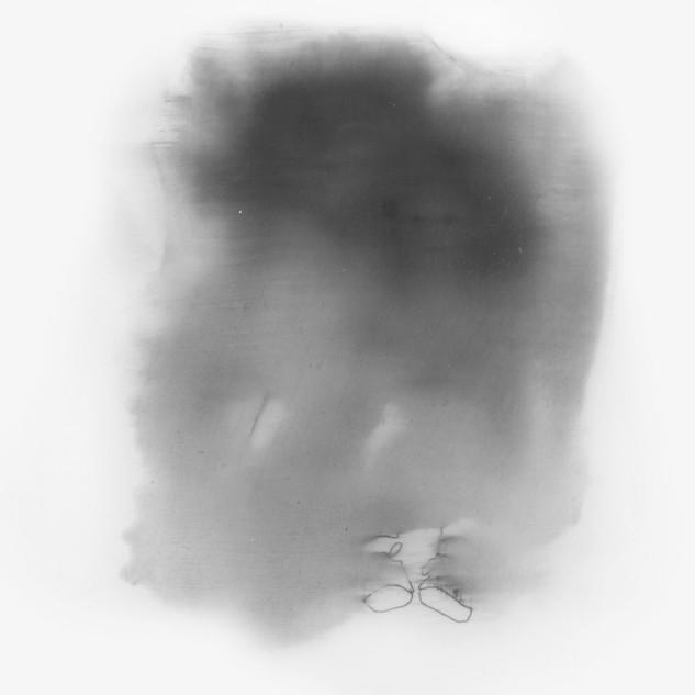 Lápiz y óleo sobre papel mylar, 21 x 20 cm, 2014.