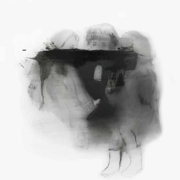 Lápiz y óleo sobre papel mylar, 23 x 23 cm, 2017.