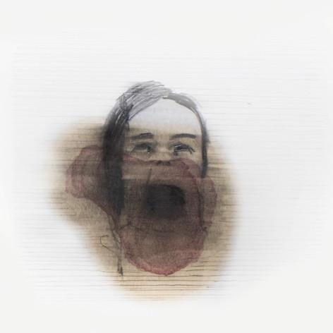 Lápiz y tinta sobre papel, 10 x 12 cm, 2011.