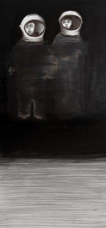 Century of the child, lápiz y óleo sobre papel mylar, 27 x 16 cm, 2017.